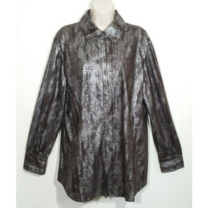 CHICO'S Size 3 Extra Large 16 Button Shirt 2738E1